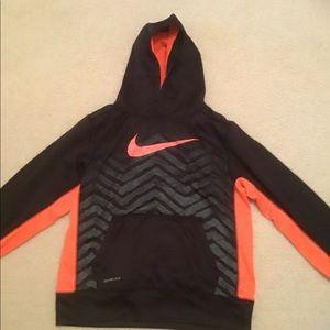 Orange and black nike hoodie